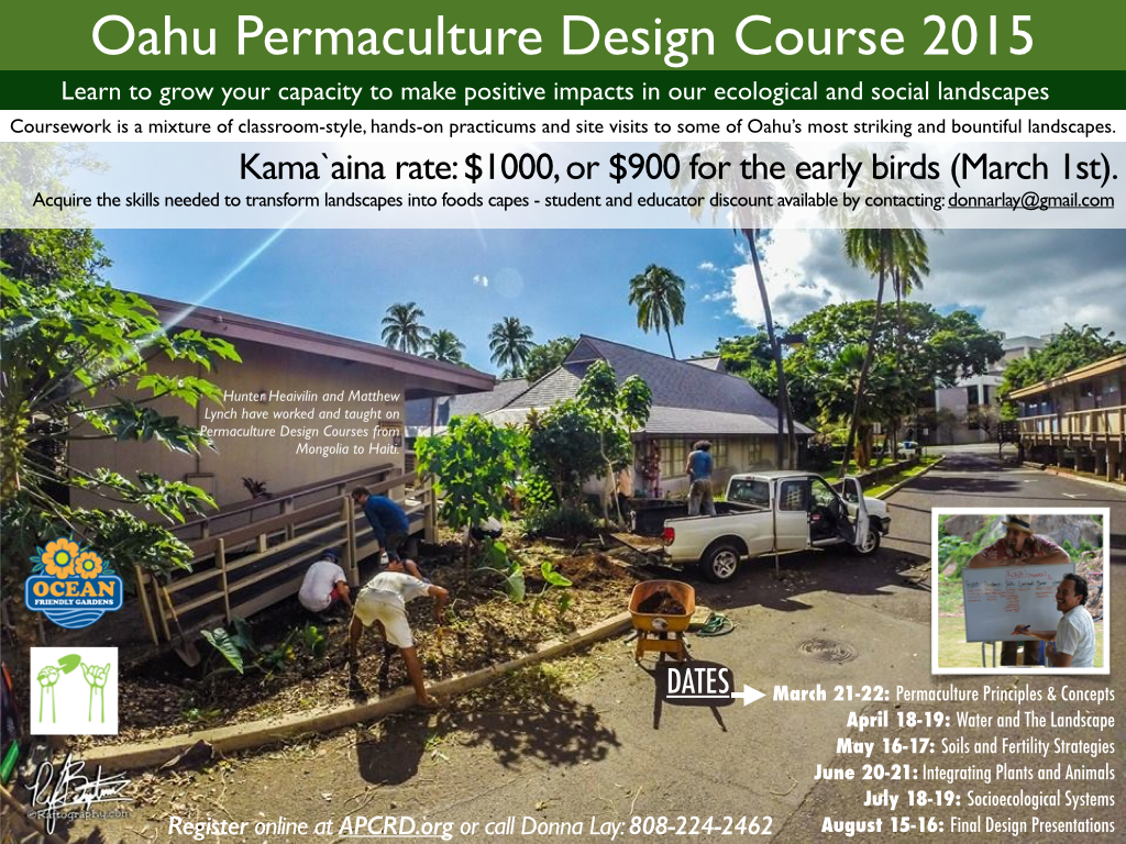 Permaculture Design Course Hawaii 2015